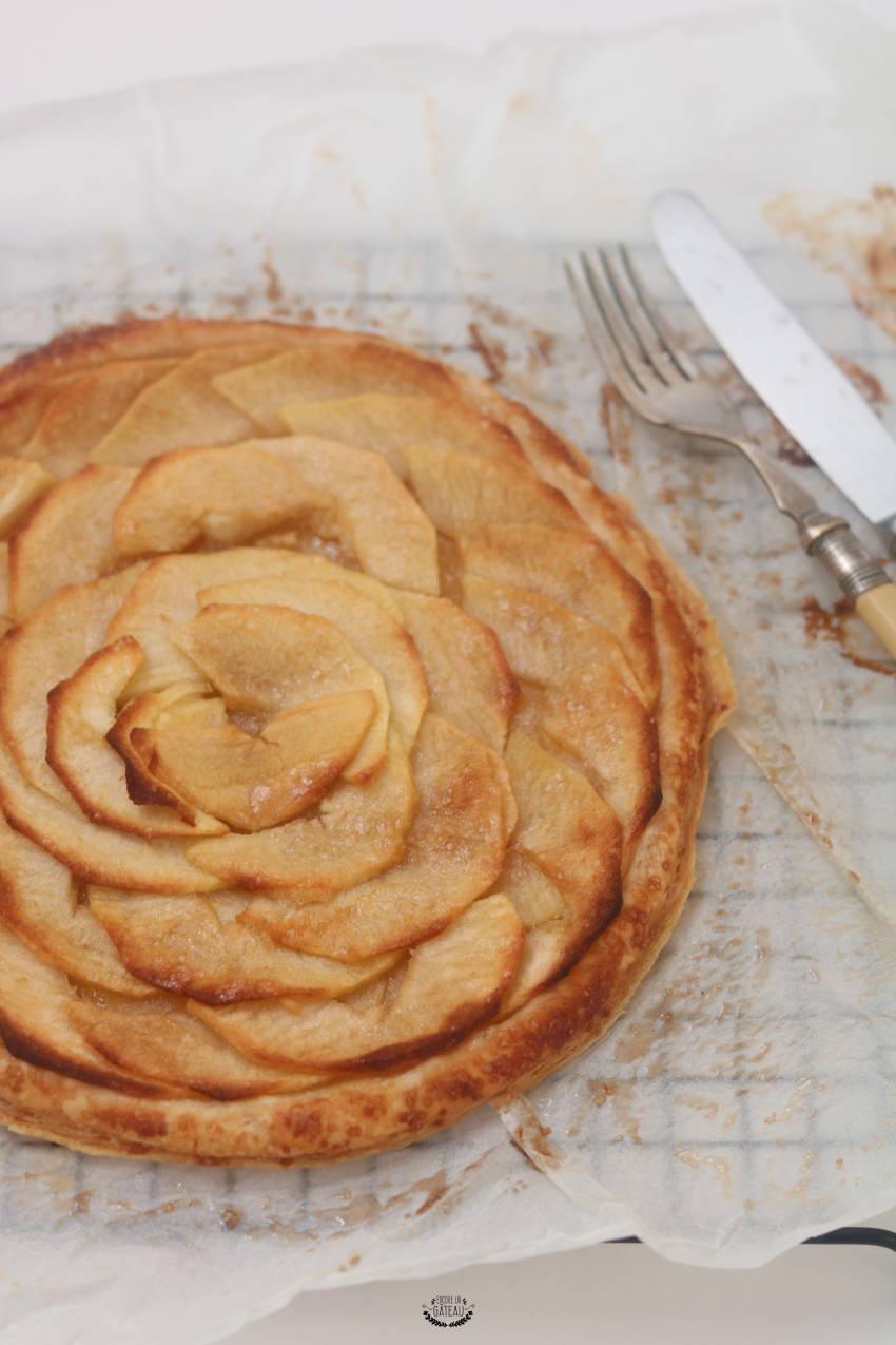 faire la rosace pour la tarte fine aux pommes