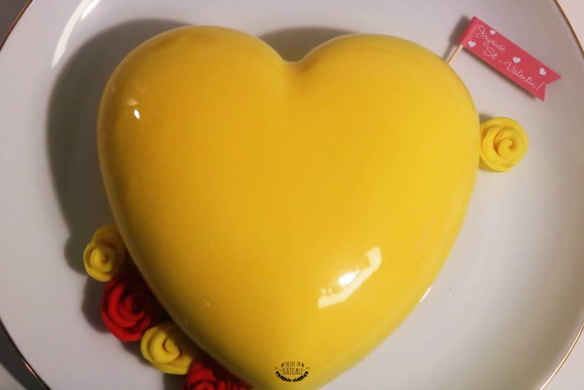 entremets st valentin le yellow de felder