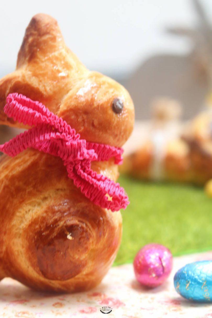 brioches lapins pour le petit déjeuner de pâques