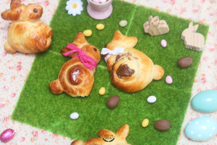 une idée originale pour pâques, les brioches lapins