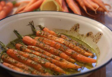 recette facile de carottes rôties à la chermoula