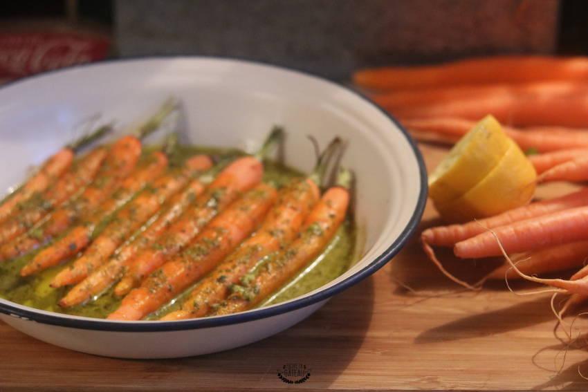 carottes rôties à la chermoula recette marocaine