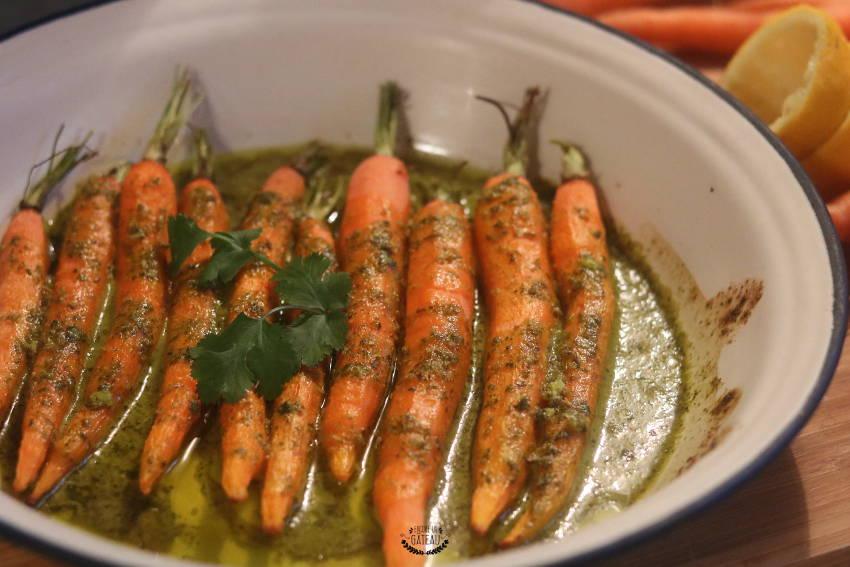 comment faire des carottes rôties à la chermoula ?