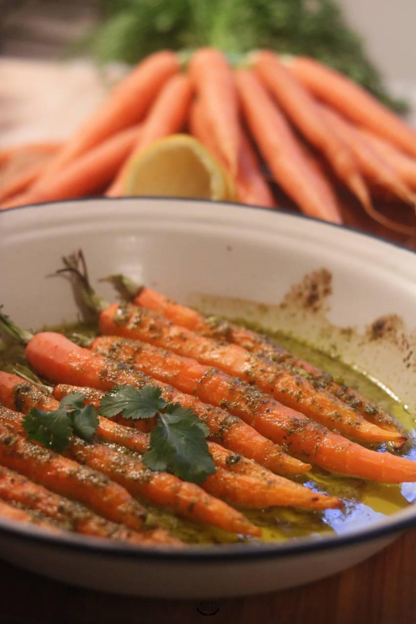 comment faire les carottes rôties à la chermoula ?
