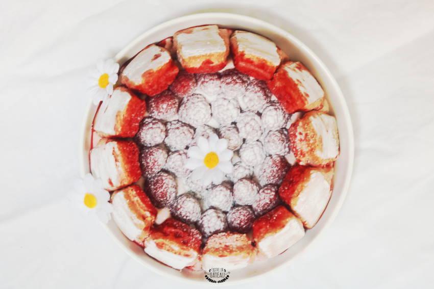 recette de charlotte framboises sans cuisson