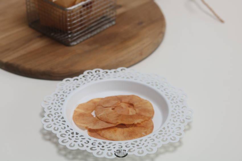 tranches de pommes au four ou chips de pommes faciles