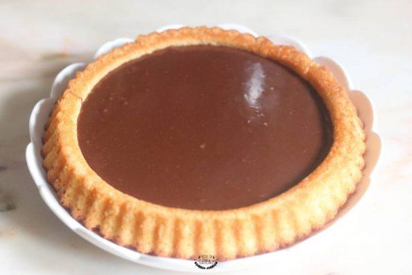 ganache chocolat au lait tarte au chocolat de pâques
