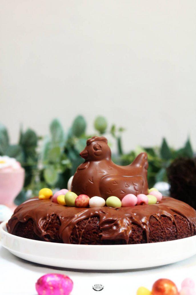 décoration gâteau aux chocolats de pâques