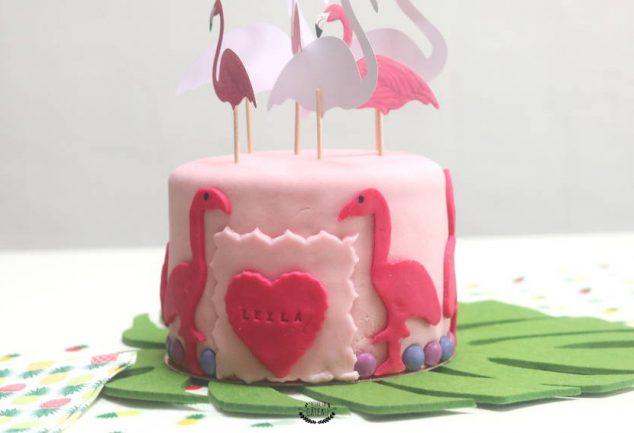 faire un gâteau flamant rose