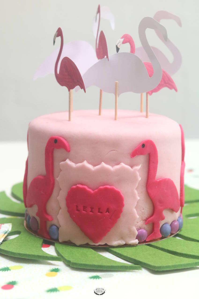 gâteau flamant rose crème au beurre légère framboise