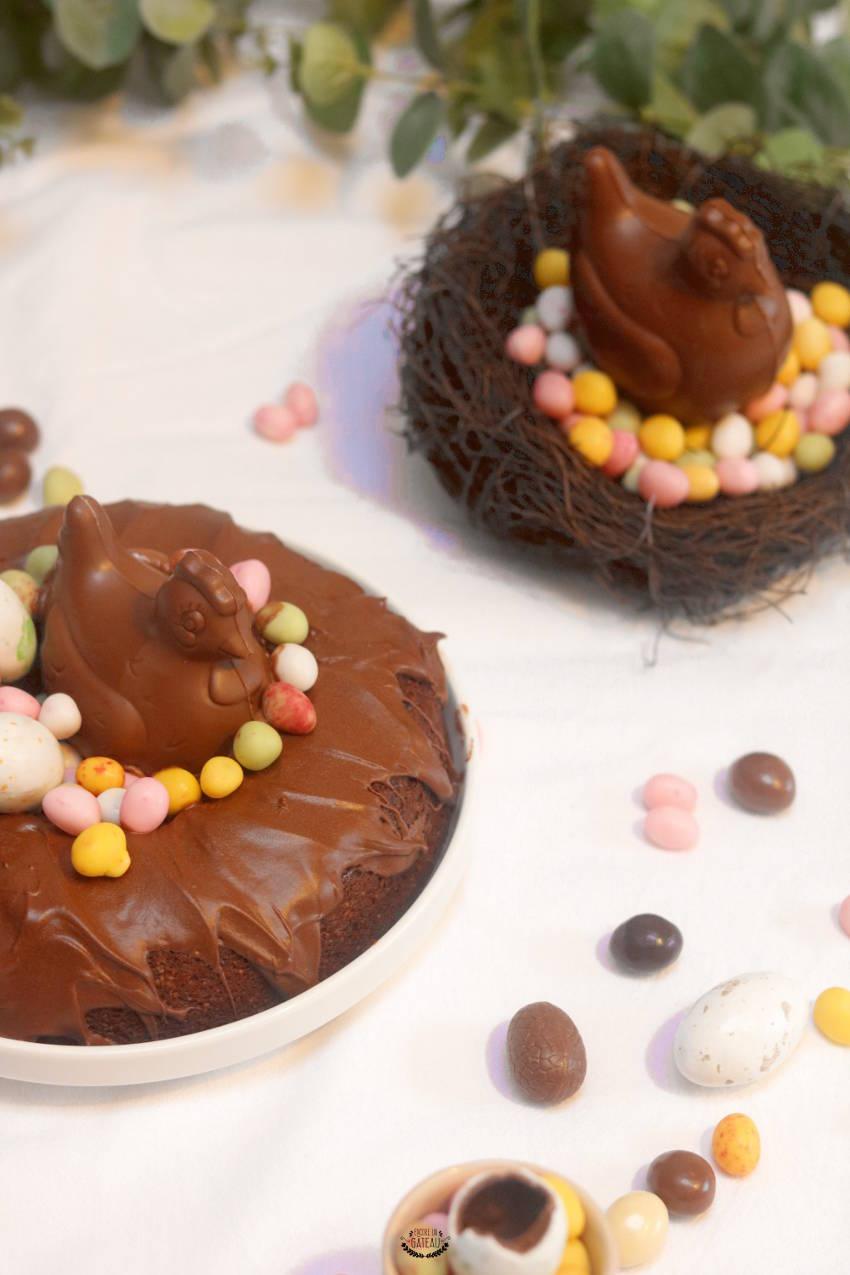 gâteau aux chocolats de pâques sans gluten