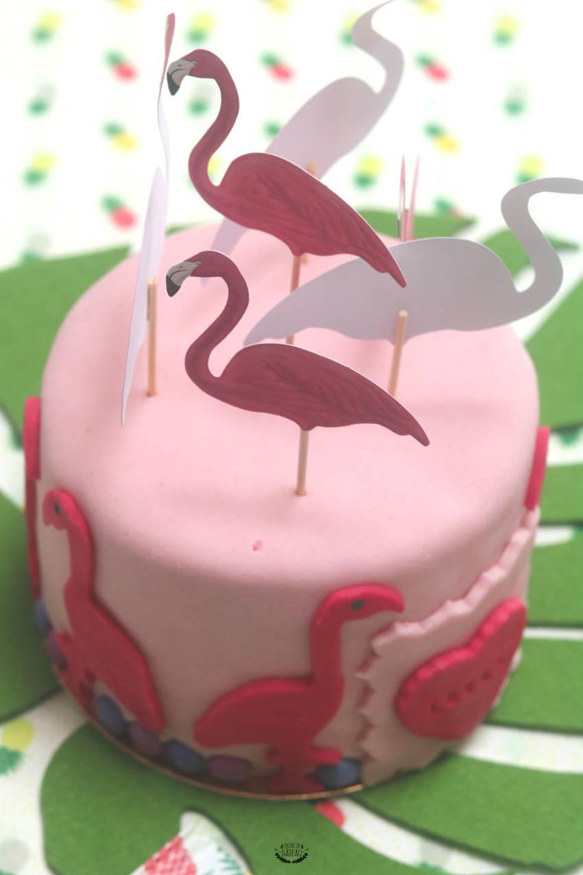 gâteau flamant rose rainbow cake rose