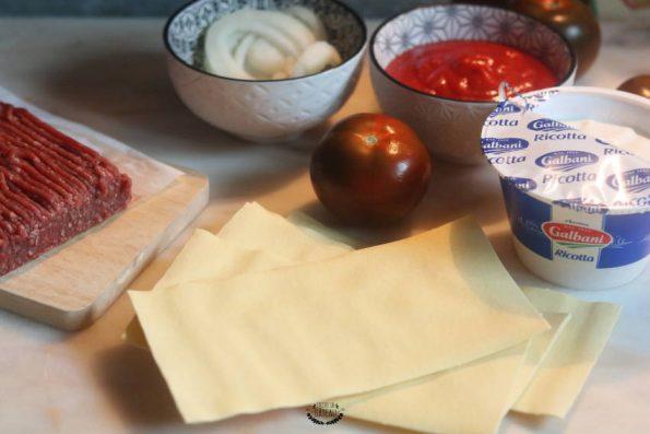 ingrédients lasagnes boeuf ricotta