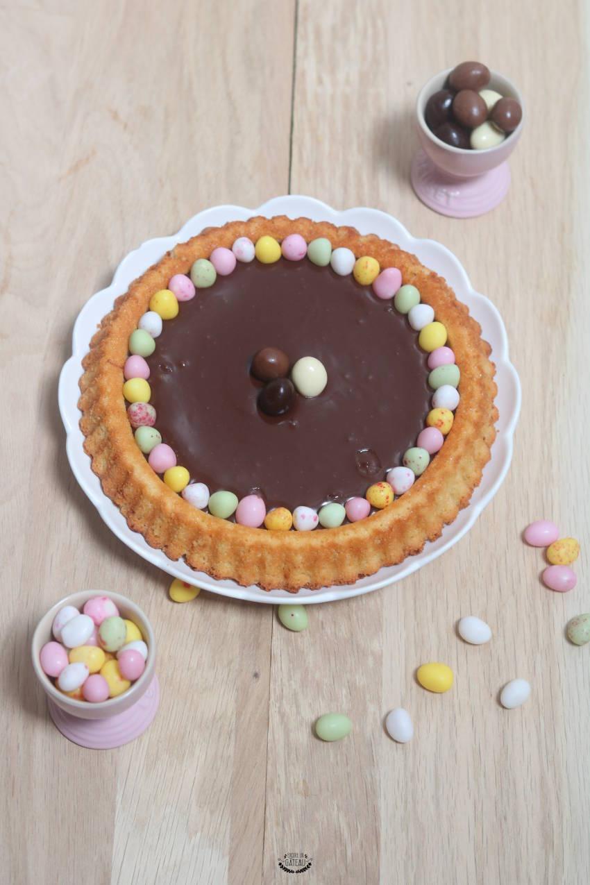 que faire dans une tourtière à fruits frais ? une tarte au chocolat de pâques