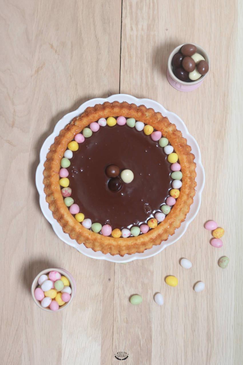 idée de dessert pour pâques la tarte au chocolat de pâques