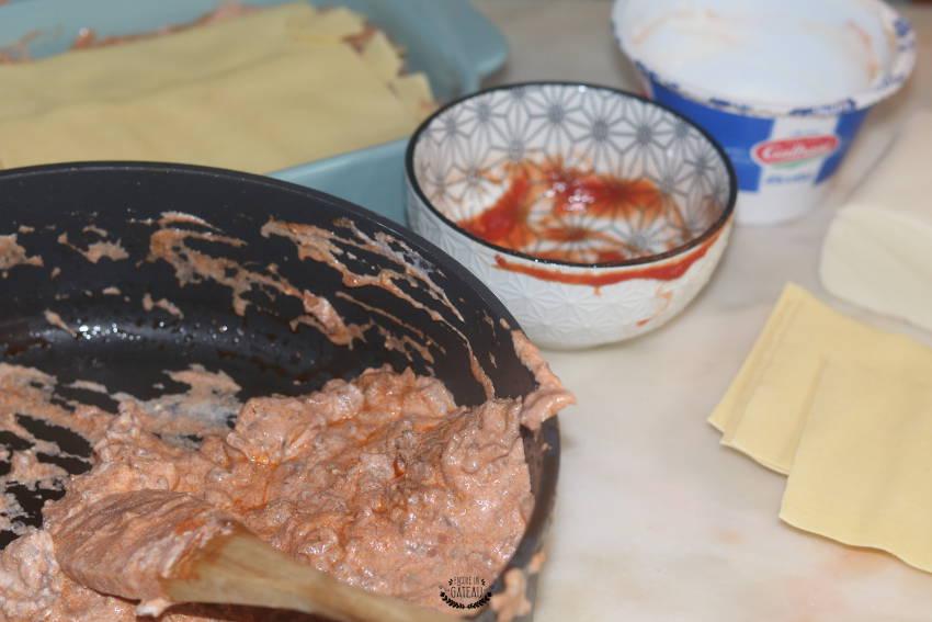 mélange ricotta pour lasagnes boeuf ricotta