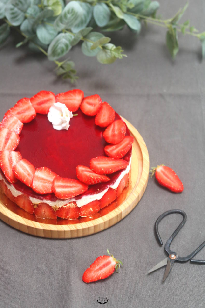 cheesecake coco fraises nappage fraises