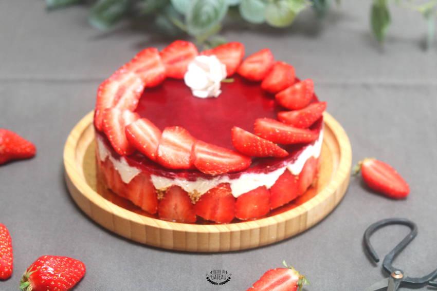 cheesecake coco fraises sans cuisson