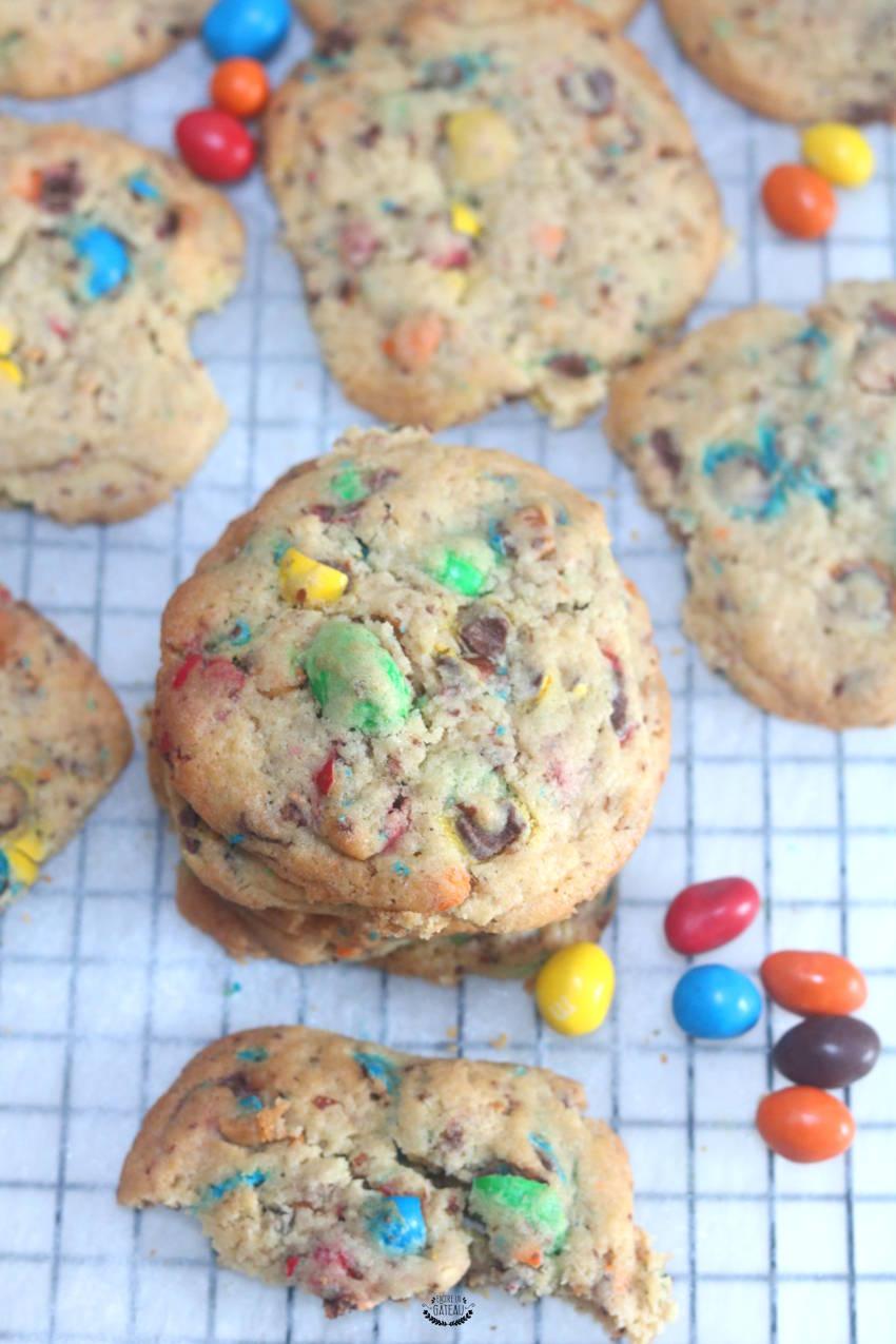 recette facile de cookies aux m&ms