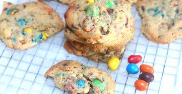 cookies aux m&ms croustillants et moelleux