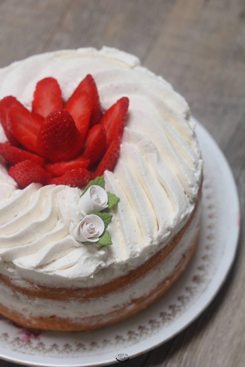 fraisier japonais un gâteau léger