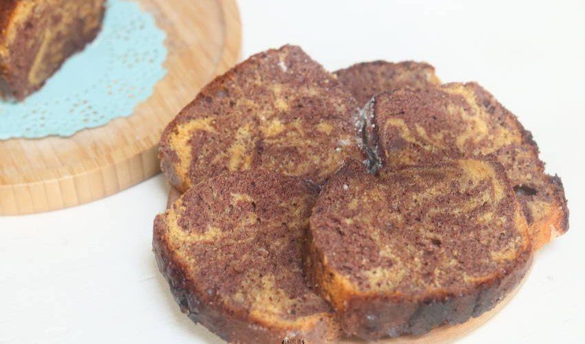 recette de cake marbré caramel chocolat
