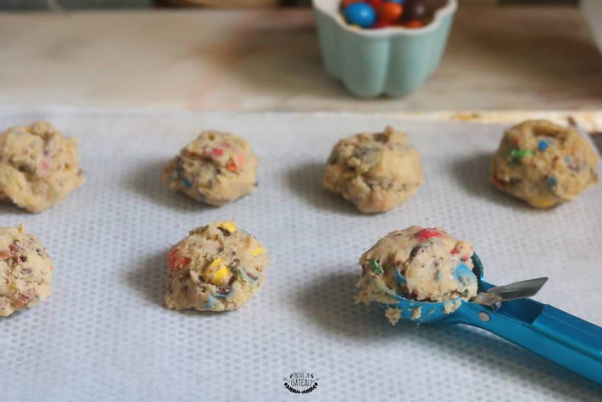 pâte à cookies aux m&ms