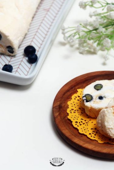 recette détaillée de roulé meringué citron myrtilles