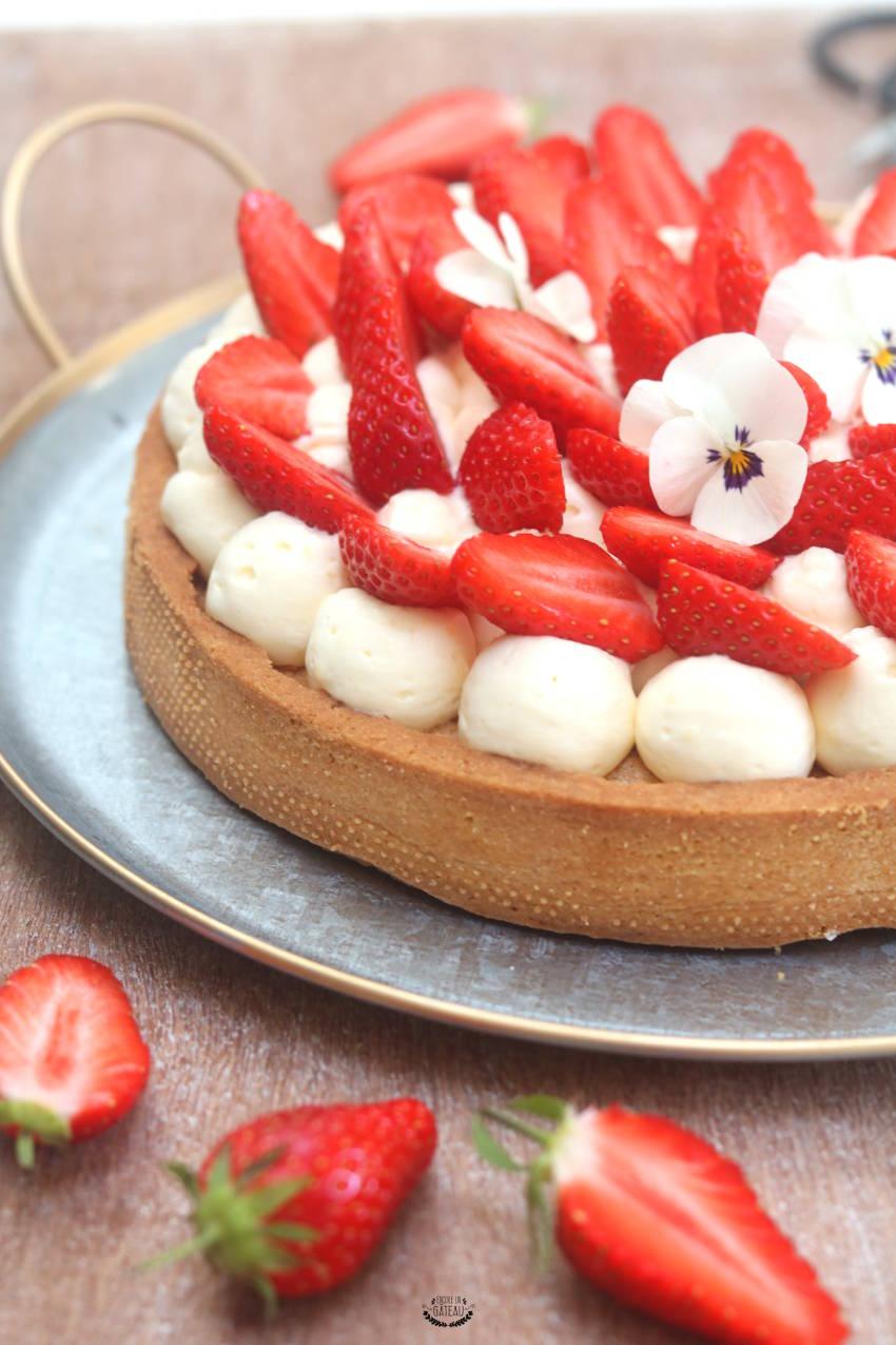 comment faire une tarte aux fraises crème diplomate ?