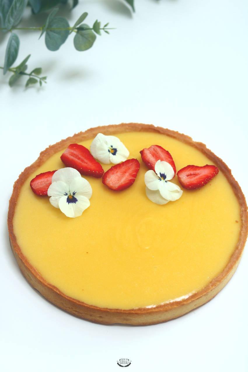 tarte au citron goût intense