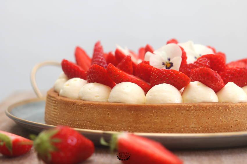 recette facile de la tarte aux fraises crème diplomate