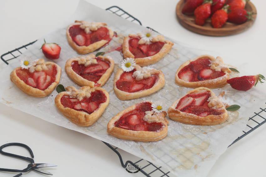 jolies tartelettes aux fraises