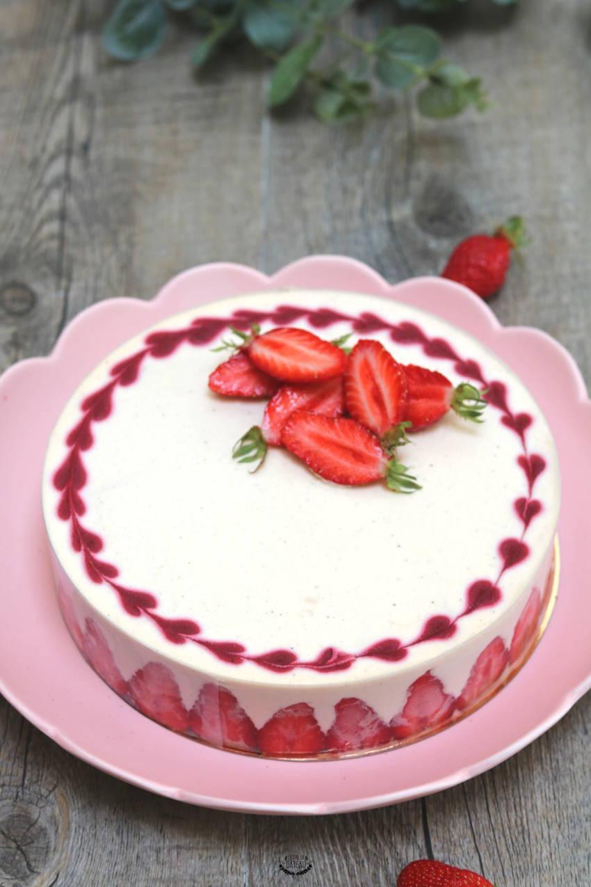 tiramisu aux fraises façon entremets sans gélatine