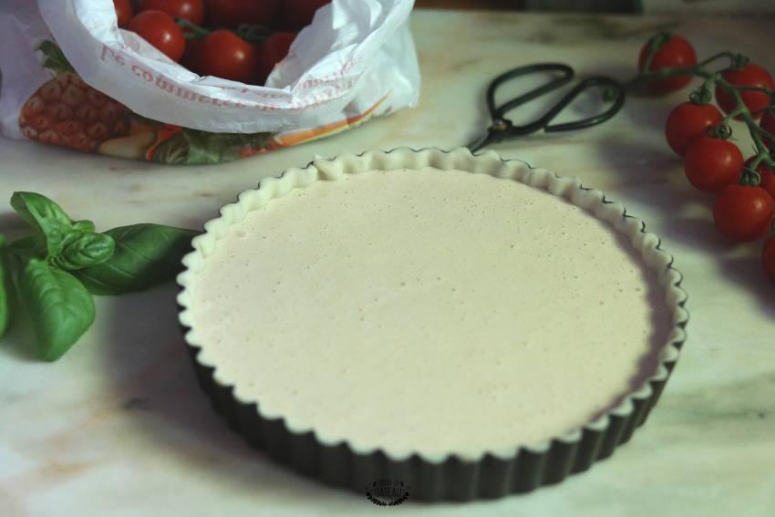 appareil tarte tomates cerises fromage frais