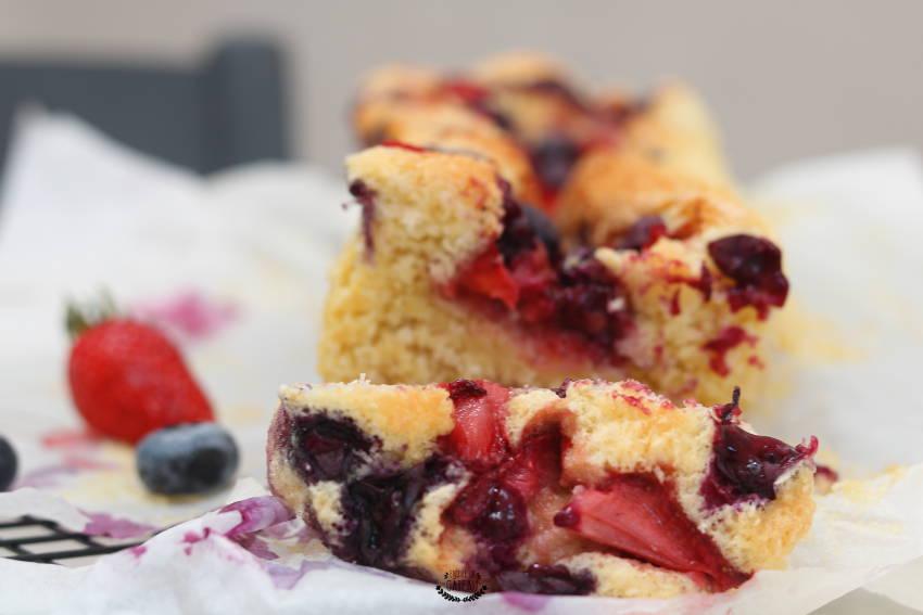 cake coco fruits rouges facile