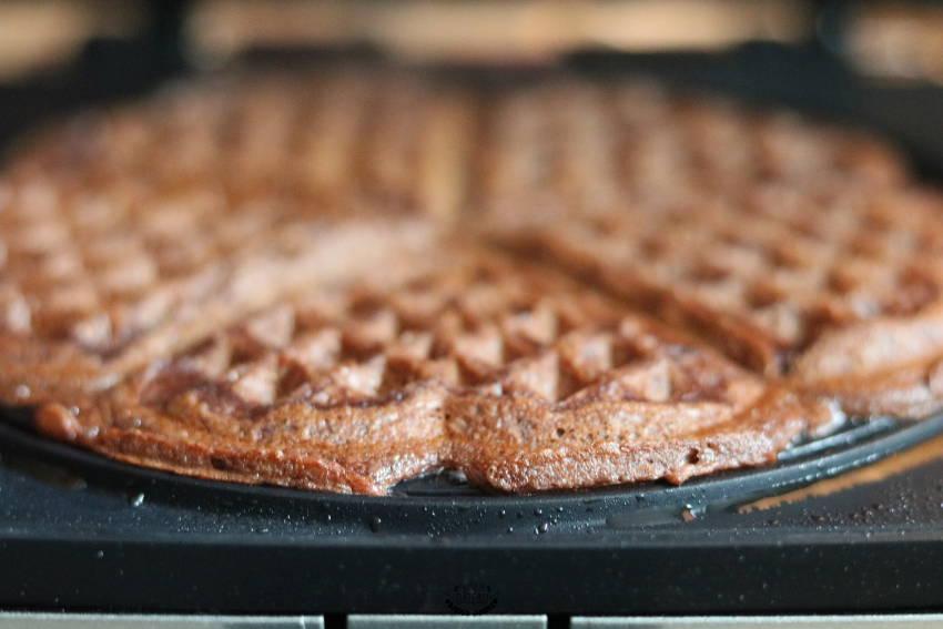 cuisson des gaufres au chocolat