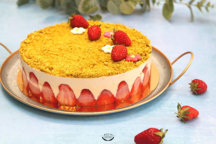 décoration du fraisier crème diplomate