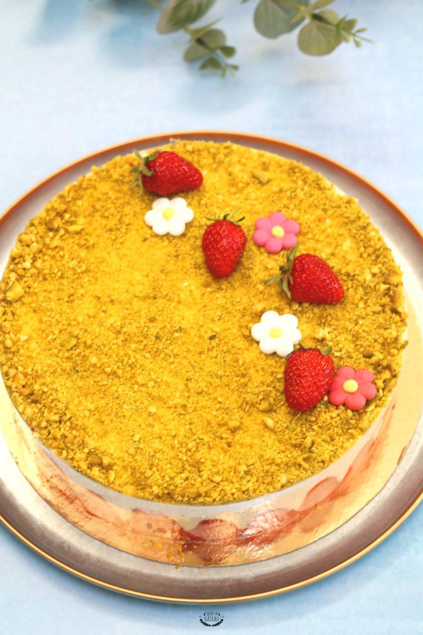 recette fraisier crème diplomate