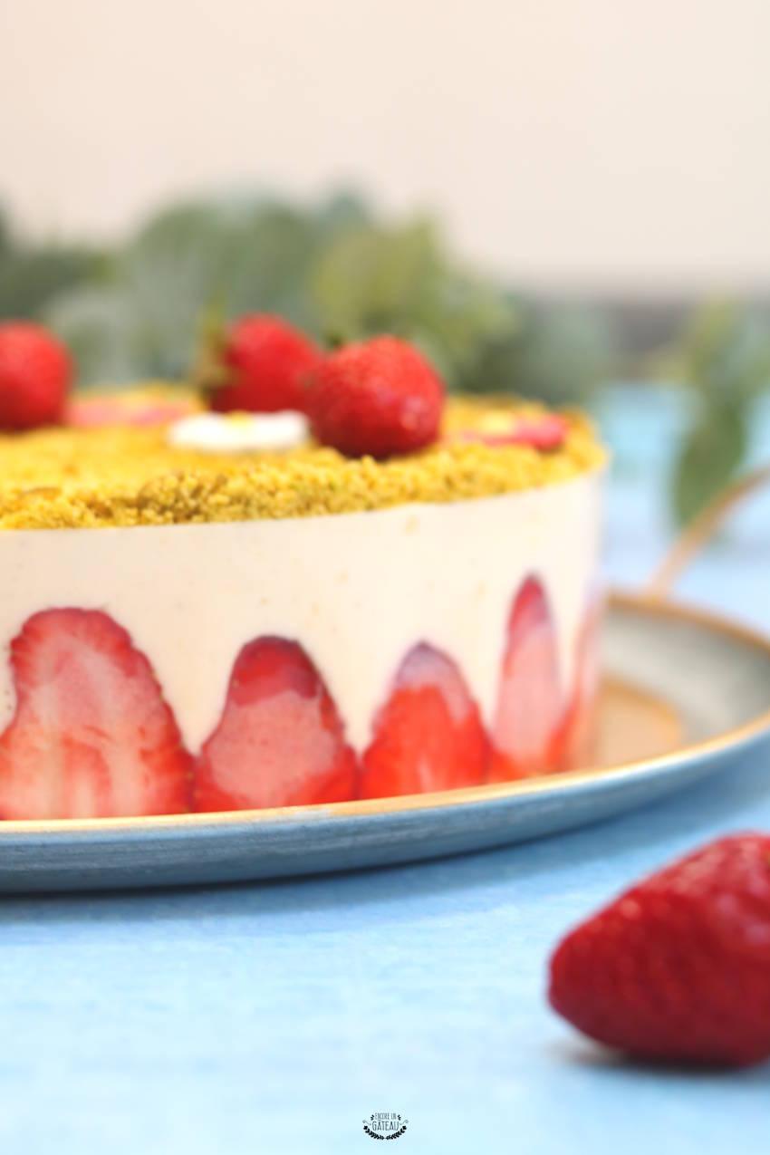entremets léger fraisier crème diplomate