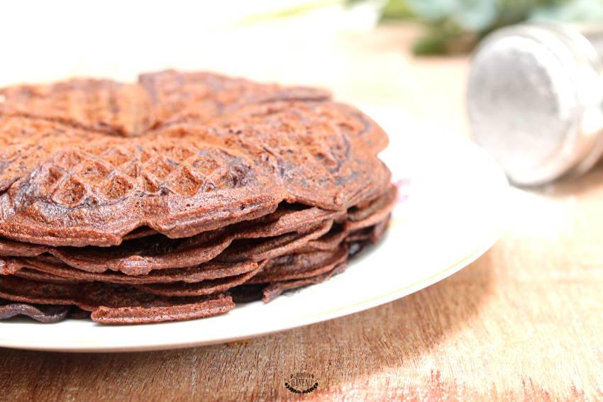 faire des gaufres au chocolat