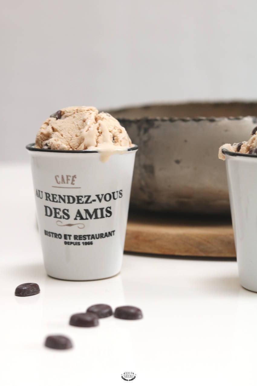 recette rapide de glace au café