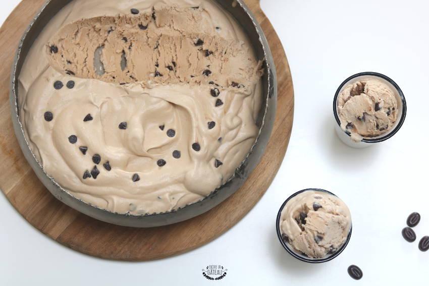 glace au café pépites de chocolat