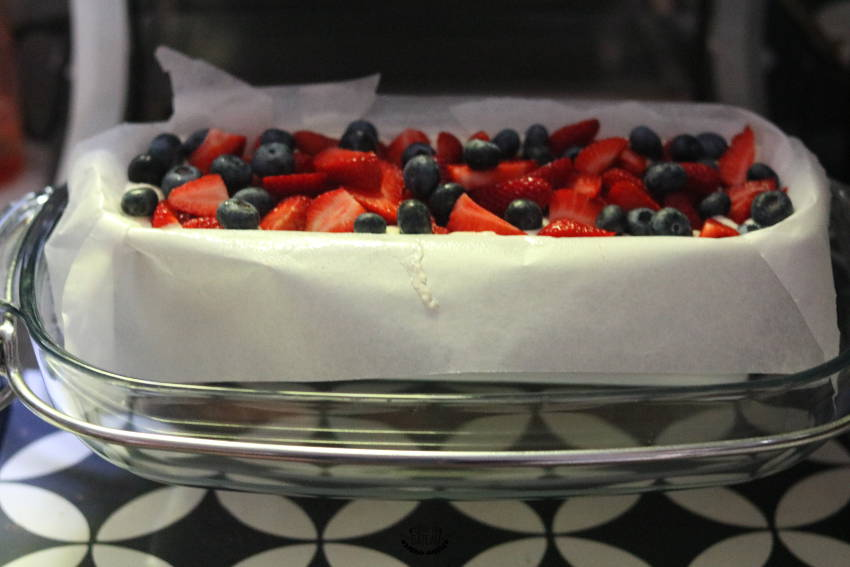 cake coco fruits rouges avant cuisson