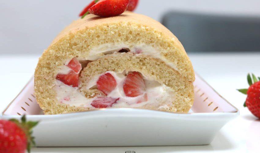 comment faire un roulé fraises et chantilly ?