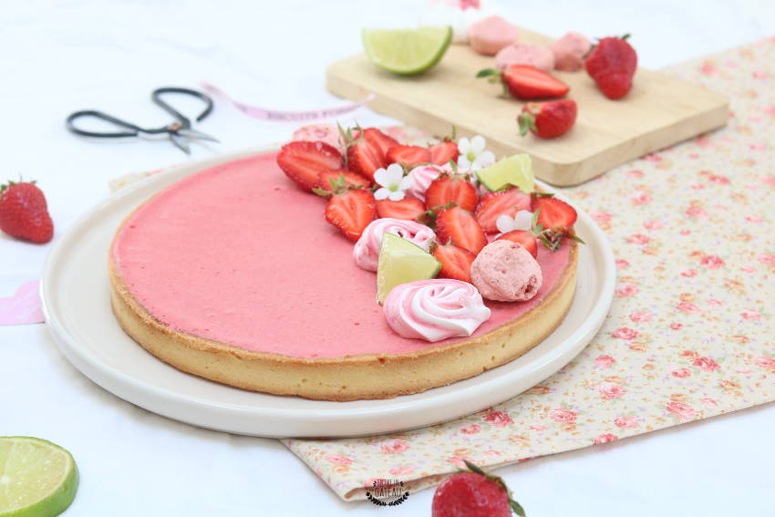 recette facile de tarte mousse de fraises
