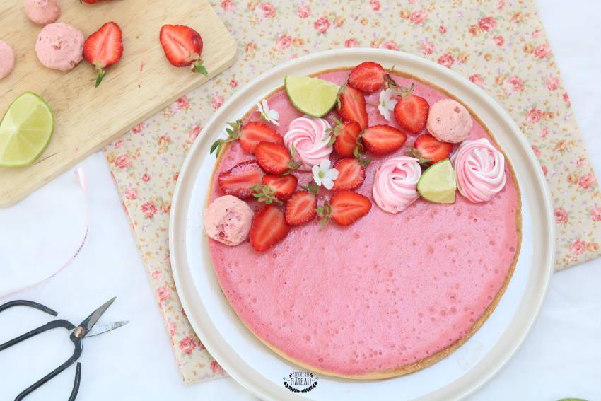 recette facile de tarte mousse fraises