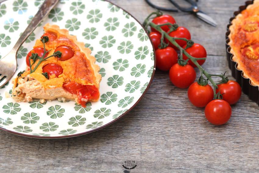 comment faire une tarte aux tomates cerises avec du fromage frais