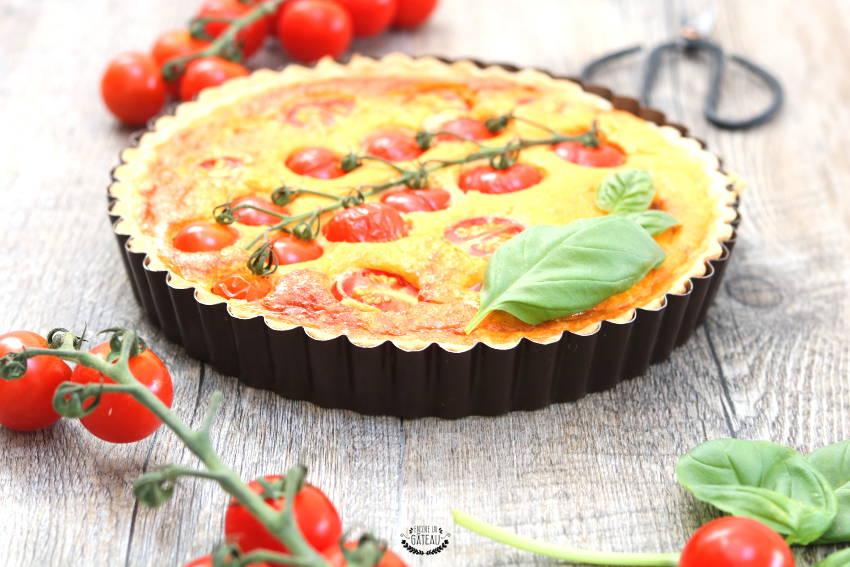 recette facile et rapide de tarte tomates cerises et fromage frais