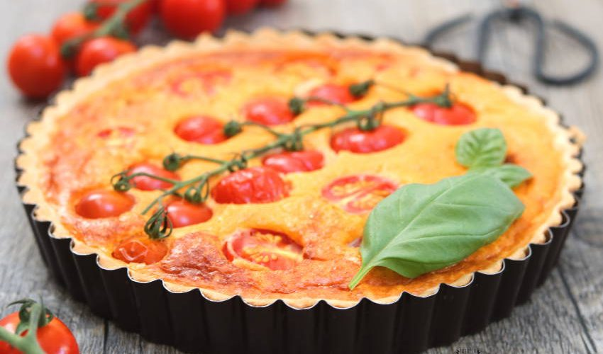 tarte tomates cerises et fromage frais
