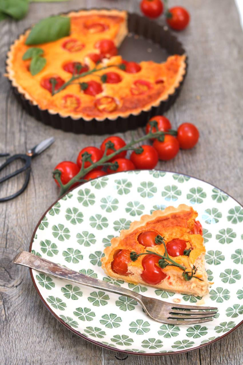 recette facile de tarte aux tomates cerises